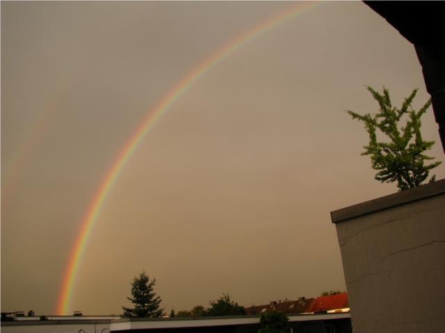 doppelter regenbogen spiegelverkehrt